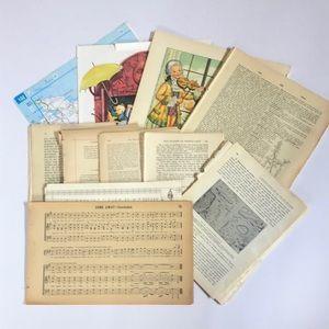 Antique & Vintage Ephemera Junk Journal Book Pages